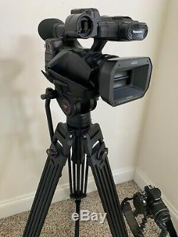 Panasonic Hc-x1000 4k Caméscope Ultra Hd Noir + Fusil MIC Et 4 Piles