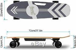 Planche À Roulettes Ancheer Moteur Électrique Longboard Sans Fil Conseil 350w Télécommande