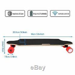 Planche À Roulettes Électrique 2.9 Roues Longboard Sans Fil Télécommande 7layers Rouge