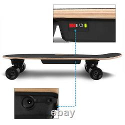 Planche À Roulettes Électrique 350w Motor Long Board E-skateboard Wireless Remote Control ^