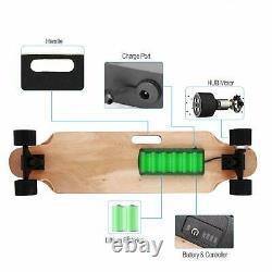 Planche À Roulettes Électrique Aceshin Longboard Avec Télécommande Portable Sans Fil 350w