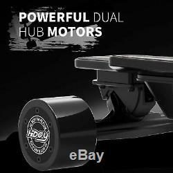 Planche À Roulettes Électrique Longboard 18.6mph Télécommande Sans Fil Double 4wheels Moteur