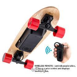 Planche À Roulettes Électrique Longboard Scooter 4 Roues Avec Télécommande Sans Fil
