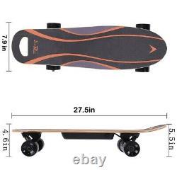 Planche À Roulettes Électrique Longboard Scooter 4 Roues Avec Télécommande Sans Fil Aa