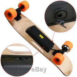 Planche À Roulettes Électrique Télécommande Sans Fil Longboard Skate Complet Plate-forme Ak