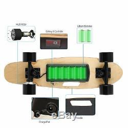 Planche À Roulettes Usaelectric Fish-board E-longboard Portatif Sans Fil De Contrôle À Distance