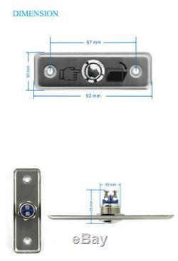 Porte De Contrôle D'accès, Serrure Magnétique Électrique, 2 Télécommandes Sans Fil