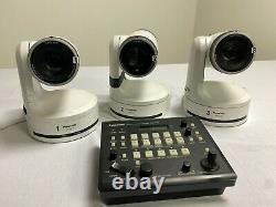 Ptz Camera 3x Panasonic Aw-he120 Hd Avec Contrôleur De Caméra À Distance Aw-rp50 Et Boîtier