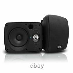 Pyle Audio 6.5 Inch Haut-parleur Bluetooth À L'intérieur Et À L'extérieur Étanche, Noir (paire)