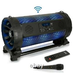 Pyle Pbmspg198 Bluetooth Boombox Speaker System Avec Lumières Led Intégrées