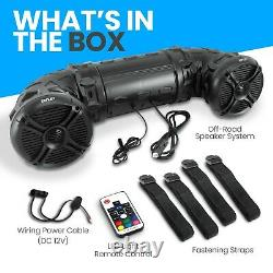 Pyle Platv65bt 800 Watt Marine Bluetooth Amplifé Imperméable 6.5 Haut-parleurs Noir