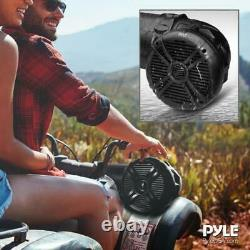 Pyle Platv65bt 800 Watt Marine Bluetooth Amplifed Waterproof 6.5 Haut-parleurs Noir
