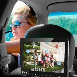 Pyle Plhrdvd904 Portable Voiture Lecteur DVD Tv Avec Écouteurs Sans Fil Et Télécommande