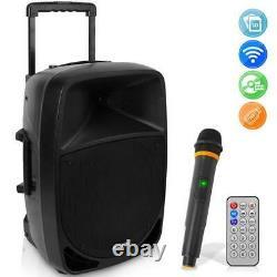Pyle Psbt125a 1200w Haut-parleur Portable Bluetooth Pa, Rechargeable, Avec Micro Sans Fil