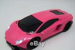 Radio Remote Control Car Lambo Rose Rc Sports Car Rc Lumières Led Sans Fil Et Rapide