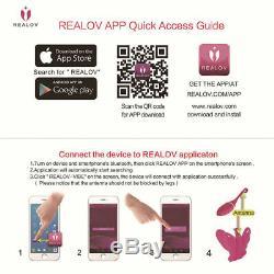 Realov Bluetooth App Télécommande Sans Fil Papillon Vibromasseur Téléphone