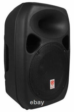 Rockville (2) 12 Haut-parleurs Bluetooth Pa Church+mic+stands 4 Church Sound Systems