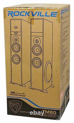 Rockville Bluetooth Home Theater / Karaoke Machine System Avec (2) Micros Sans Fil +subs