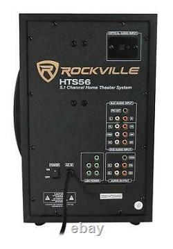Rockville Bluetooth Home Theater Karaoke Machine System Avec8 Micros Sub + Wireless