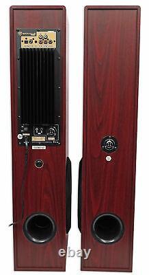 Rockville Bluetooth Home Theater /karaoke Machine System Avec (2) Micros Subs+wireless