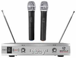 Rockville Bluetooth Home Theater/karaoke Machine System Withwireless Mics+subs