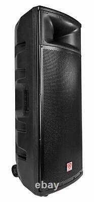 Rockville Bpa225 Dual 15 Powered Active 1500w Pro Dj Pa Speaker W Bluetooth+tws