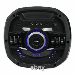 Rockville Go Party X10 Dual 10 Batterie Bluetooth Haut-parleur + Microphone Uhf