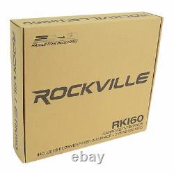 Rockville Hybrid Home Theater Karaoke Machine System Avec 5.25 Micros Sans Fil Sub+2