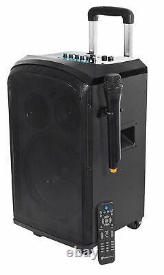 Rockville Rockngo 10 Haut-parleur Pa Rechargeable Alimenté Avec Microphone Bluetooth+ Sans Fil