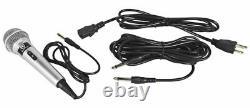 Rockville Rpg122k Haut-parleurs Dual 12 Powered, Bluetooth+mic+speaker Stands+cables