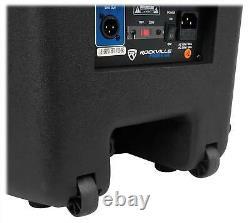Rockville Rpg15bt 15 Powered 1000w Dj Pa Speaker Bluetooth, Sans Fil Link+stand