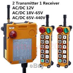 Sans Fil Industria Radio À Distance Émetteur + Récepteur De Contrôle Crane Hoist 12 Touches