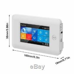 Set Cs108 Sans Fil Wifi Gsm Gprs Intelligent Système D'alarme App Contrôle À Distance De Sécurité