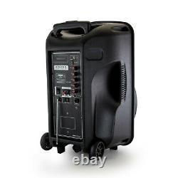 Siège 12 Bluetooth Portable Rechargeable Partie Dj Pa Speaker Avec Lumières