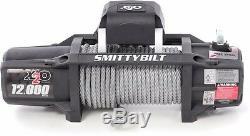 Smittybilt X2o 12 000 Lb Winch Étanche Avec Télécommande Sans Fil Et Chaumard 97512