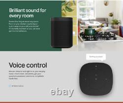 Sonos One (gen 2) White Voice Controlled Smart Speaker Amazon Alexa Intégré