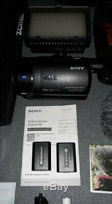 Sony Fdr-ax53 Caméscope Mint Condition Avec Des Tonnes De Extras