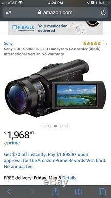 Sony Hdr-cx900- 20mp Hd- 1 Sensor-ombrelle Et Sony À Distance