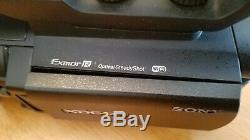 Sony Pxw-x70 Caméscope 4k Evolutif Broken Écran Noir Faible Utilisation