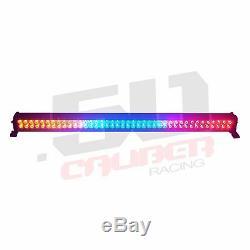 Strobe Multicolor 42 Pouces Led Bouton Lightbar Avec Ses 4 Télécommande Sans Fil Bateau