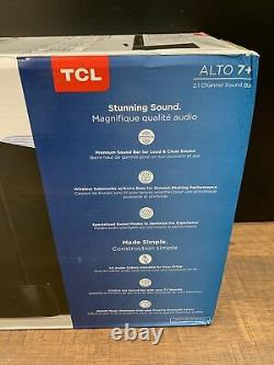 Tcl Alto 7+ 2.1 Chaîne Home Theater Sound Bar Avec Sous-woofer Sans Fil Ts70