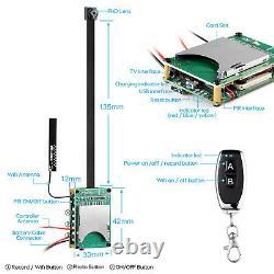 Télécommande 4k Super Hd Mini Pin Hole Spy Camera Video Recorder Wireless Wifi