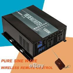 Télécommande Sans Fil 1500w 12w 12 / 24v À 120 / 220v Pure Sine Wave