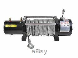 Télécommande Sans Fil Électrique Suv De Camion De Treuil De Récupération Électrique Classique De 9500lbs 12v