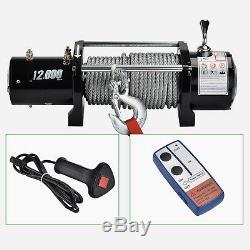Télécommande Sans Fil Suv De Camion De Treuil De Récupération Électrique De 12000lbs 12v