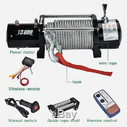 Télécommande Sans Fil Suv De Camion De Treuil De Récupération Électrique De 13000lbs 12v