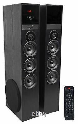 Tower Speaker Home Theater System Withsub Pour Samsung Nu6900 Télévision Tv-noir