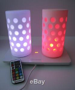 Très Rare Mathmos Duo Sans Fil Avec Télécommande Lumières Box Etc