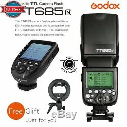 Ttl Us Godox Tt685n Hss Caméra Speedlite + Xpro-n Trigger Kit Pour Nikon