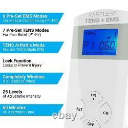 Unité Tens Sans Fil + Ems Therapeutic Wearable System, # Et-5050 Par Ireliev